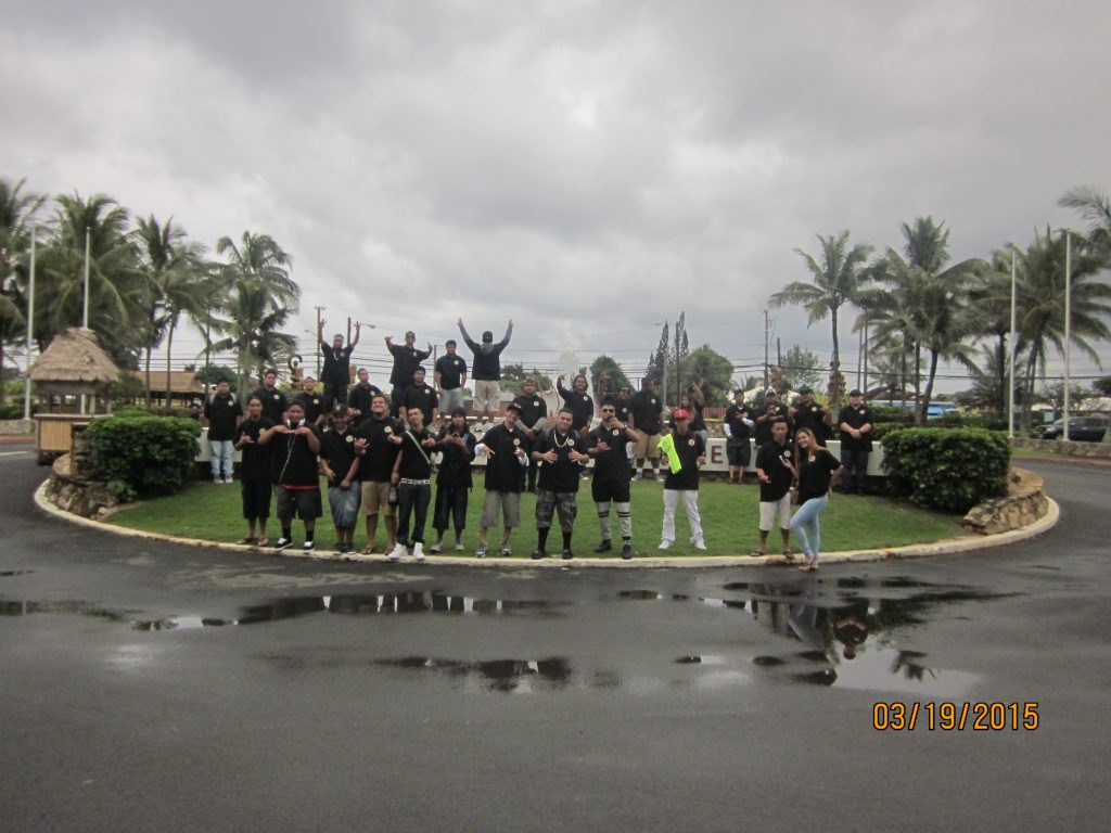 Students at the Polynesian Cultural Center